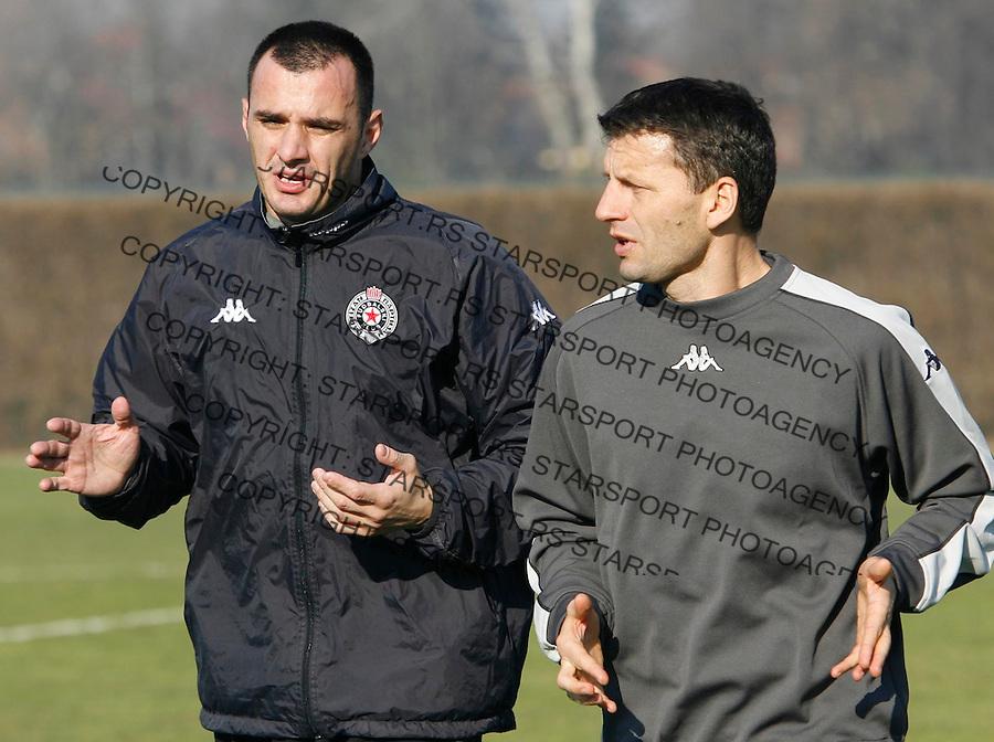 Fudbal, season 2006/07&amp;#xA;FK Partizan, pocetak priprema&amp;#xA;Ivica Kralj, goal kepeer, left, and Miroslav Djukic, head coach&amp;#xA;Beograd, 01.10.2007.&amp;#xA;foto: Srdjan Stevanovic<br />
