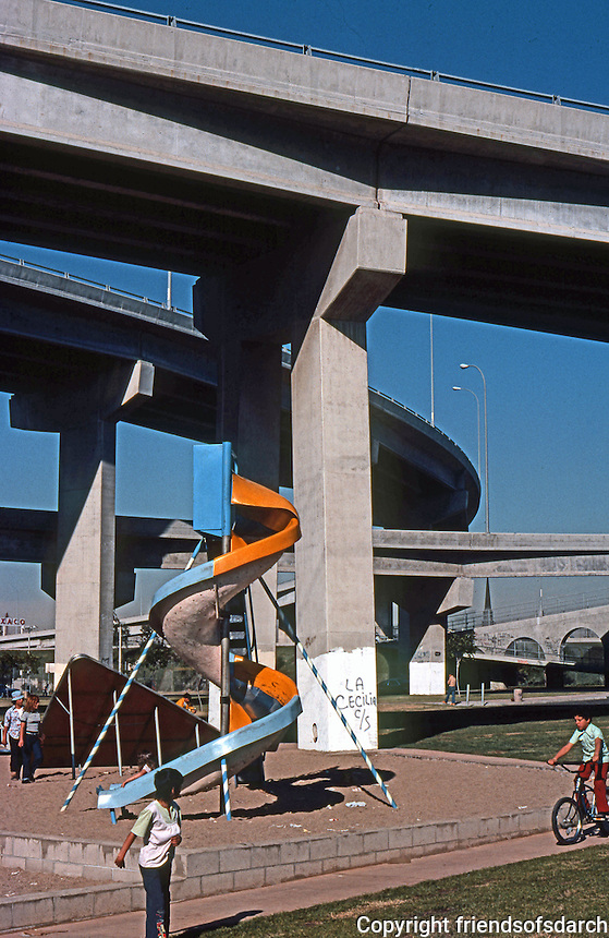 San Diego: Coronado Bridge and Chicano Park. (Photo 1977)