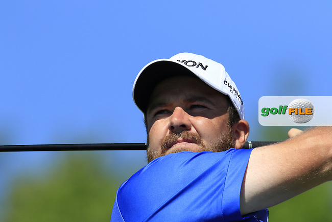 Shane LOWRY (IRL) tees off the 1st tee during Tuesday's Practice Day of the 97th US PGA Championship 2015 held at Whistling Straits, Mosel, Kohler, Wisconsin, United States of America. 11/08/2015.<br /> Picture Eoin Clarke, www.golffile.ie