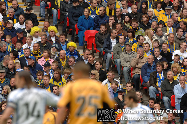 Torquay United 2 Cambridge United 0, 17/05/2009. Wembley Stadium, Conference Play Off Final. Tense Torquay United supporters watch the action unfold. Torquay United returned to the Football League after two years away following victory at Wembley. Photo by Simon Gill