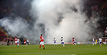 08.11.18 Spartak Moscow v Rangers: Smoke and pyro from the Spartak Moscow support