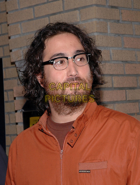 "SEAN LENNON.The premiere of the new film, ""Last Days"".New York, 19th July 2005.half length half-length orange shirt glasses.Ref: Patti Ouderkirk.www.capitalpictures.com.sales@capitalpictures.com.© Capital Pictures."