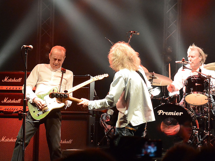 Original Status Quo members Francis Rossi, Rick Parfitt, Alan Lancaster and John Coughlan, The Frantic Four reunited at the Manchester Apollo 12-03-13. Photo:Colin Bell/pressphotos.ie
