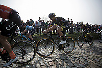 Adrien Petit (FRA/Direct Energie) up the  Koppenberg, <br /> <br /> 103rd Ronde van Vlaanderen 2019<br /> One day race from Antwerp to Oudenaarde (BEL/270km)<br /> <br /> ©kramon