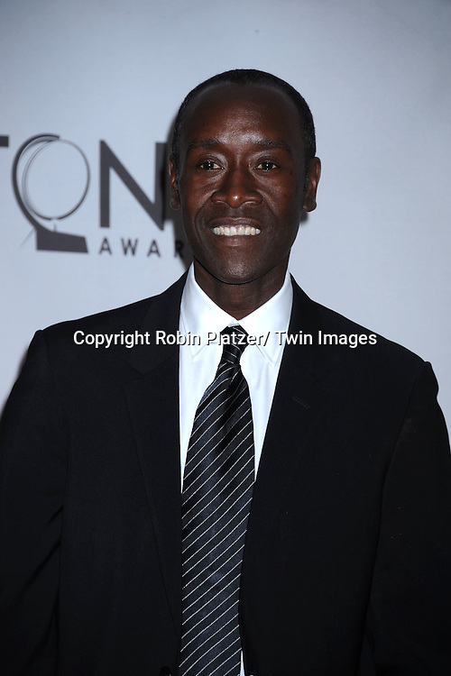 Don Cheadle attending the 65th Annual Tony Awards at the Beacon Theatre in New York City on June 12, 2011.