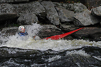 Kayaker at  Hudson River White Water Derby in North Creek, New York