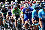 Green Jersey Peter Sagan (SVK) Bora-Hansgrohe in the peloton during Stage 6 of the 2018 Tour de France running 181km from Brest to Mur-de-Bretagne Guerledan, France. 12th July 2018. <br /> Picture: ASO/Alex Broadway | Cyclefile<br /> All photos usage must carry mandatory copyright credit (© Cyclefile | ASO/Alex Broadway)