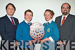 Students of the Year John Prendergast and Caoimhe Marley pictured with Transition Year Co-Ordinator Shane Kissane and Principal Mr. John O Roarke at The Mercy Mounthawk Transition Year Awards night held in The Siamsa Tire on Friday night......................................................................................................................................................................................... ............