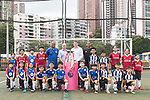 From Left to Right: Mark Bright, Mark Sutcliffe, Richard Masters, Phil Babb and Hong Kong children pose for a group photo with the Premier League Asia Trophy in front of the Hong Kong skyline for the launch of the Premier League Asia Trophy 2017 at the Hong Kong Football Club on 01 June 2017 in Hong Kong, China. Photo by Chris Wong / Power Sport Images