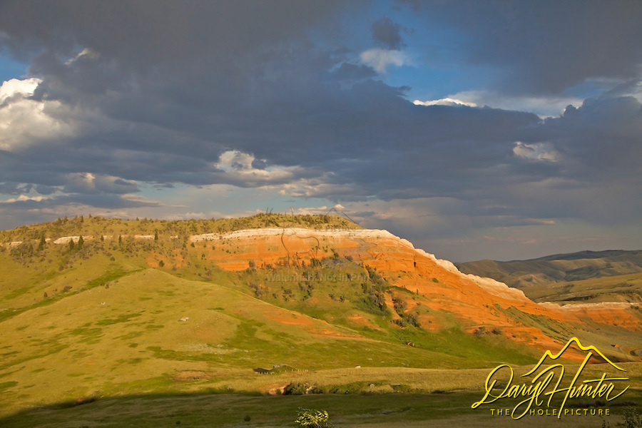 Red hills, Thunderstrom, Bighorn Basin, Cody Wyoming