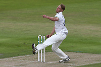 Jamie Porter in bowling action for Essex during Lancashire CCC vs Essex CCC, Specsavers County Championship Division 1 Cricket at Emirates Old Trafford on 9th June 2018