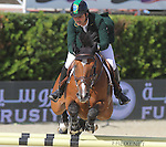 29.09.2013 Barcelona, Spain. Furusiyya FEI Nations Cup Final. Picture show Rodrigo Pessoa (BRA) riding Citizenguard Cadjanine Z at Club de Polo