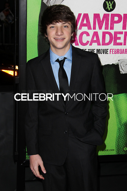 "LOS ANGELES, CA - FEBRUARY 04: Jake Short at the Los Angeles Premiere Of The Weinstein Company's ""Vampire Academy"" held at Regal Cinemas L.A. Live on February 4, 2014 in Los Angeles, California. (Photo by Xavier Collin/Celebrity Monitor)"