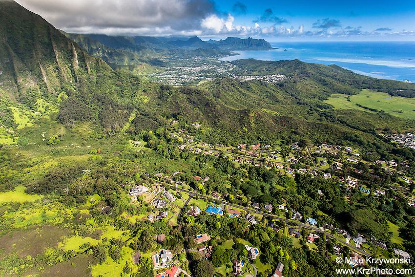 Aerial view of He'eia, Oahu