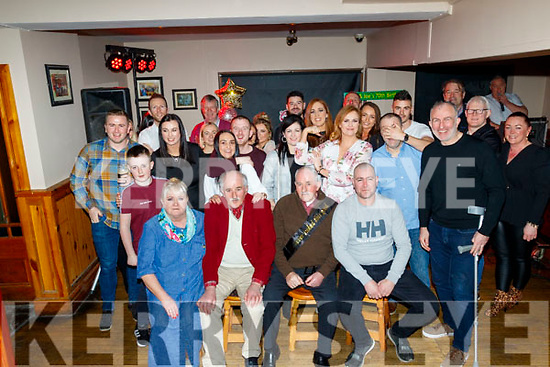 Ardfert twins, Frank&Joe Wallace celebrated their 70th birthdays last Saturday night in McElligotts bar, Ardfert with family and lots of friends.