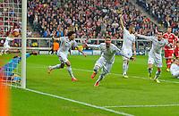 MUNIQUE, ALEMANHA, 29.04.2014 - LIGA DOS CAMPEOES - BAYERN DE MUNIQUE - REAL MADRID - O zagueiro do Real Madrid, Sergio Ramos comemora gol contra o Bayern de Munique no jogo de volta da semifinal da Liga dos Campeões da Europa contra o Bayern de Munique, na Allianz Arena, em Munique, Alemanha, nesta terca-feira, 29. (Foto: Pixathlon / Brazil Photo Press).