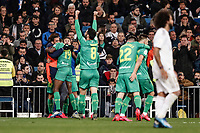 6th February 2020; Estadio Santiago Bernabeu, Madrid, Spain; Copa Del Rey Football, Real Madrid versus Real Sociedad; Alexander Isak (Real Sociedad)  celebrates his goal which made it 0-3 in the 56th minute