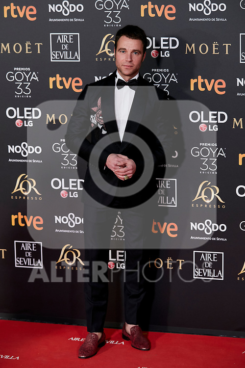 Carles Francino attends to 33rd Goya Awards at Fibes - Conference and Exhibition  in Seville, Spain. February 02, 2019. (ALTERPHOTOS/A. Perez Meca)