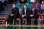 S&ouml;dert&auml;lje 2014-01-03 Basket Basketligan S&ouml;dert&auml;lje Kings - Bor&aring;s Basket :  <br /> Bor&aring;s head coach Pat Ryan och Bor&aring;s assistant coach Jonas Larsson p&aring; avbytarb&auml;nken under matchen<br /> (Foto: Kenta J&ouml;nsson) Nyckelord:  tr&auml;nare manager coach portr&auml;tt portrait