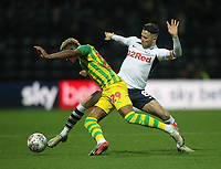 Preston North End's Alan Browne in action with West Bromwich Albion's Grady Diangana<br /> <br /> Photographer Mick Walker/CameraSport<br /> <br /> The EFL Sky Bet Championship - Preston North End v West Bromwich Albion - Monday 2nd December 2019 - Deepdale Stadium - Preston<br /> <br /> World Copyright © 2019 CameraSport. All rights reserved. 43 Linden Ave. Countesthorpe. Leicester. England. LE8 5PG - Tel: +44 (0) 116 277 4147 - admin@camerasport.com - www.camerasport.com