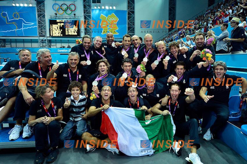 Italy Silver Medal.Water Polo Final Croazia Italia / Croatia Vs Italy.London 12/8/2012 Water Polo Arena.London 2012 Olympic games - Olimpiadi Londra 2012.Foto Giorgio Scala Insidefoto