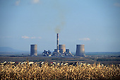 Hungary. Mátra power station in rural setting.