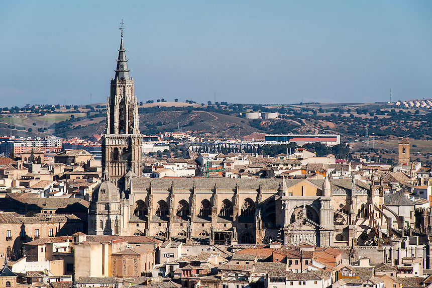 Cityscape and Holy Church Cathedral, Toledo, Spain
