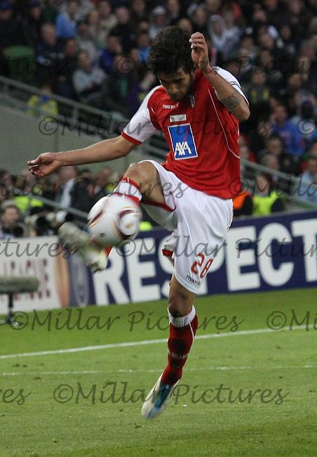 Silvio in the FC Porto v SC Braga Europa Cup Final played in the Dublin Arena, Dublin on 18.5.11.