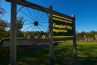 Campbell Valley Regional Park Sign