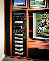 Organized Media Rack For Sports Viewing