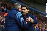 Paul Lambert manager of Aston Villa greets Mauricio Pochettino, Tottenham's Manager - Aston Villa vs. Tottenham Hotspurs - Barclay's Premier League - Villa Park - Birmingham - 02/11/2014 Pic Philip Oldham/Sportimage