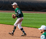 HARTFORD, CT-062520JS11—Former Housatonic and UConn standout Willy Yahn (6) plays shortstop for the Great Falls Gators in the Connecticut Twilight League game  against the Terryville Black Sox Thursday at Dunkin Donuts Park in Hartford. <br /> Jim Shannon Republican-American