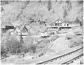 View of Ophir, Colorado from beyond Bridge 45-B.<br /> RGS  Ophir, CO  Taken by Lee, Russell - 9/1940