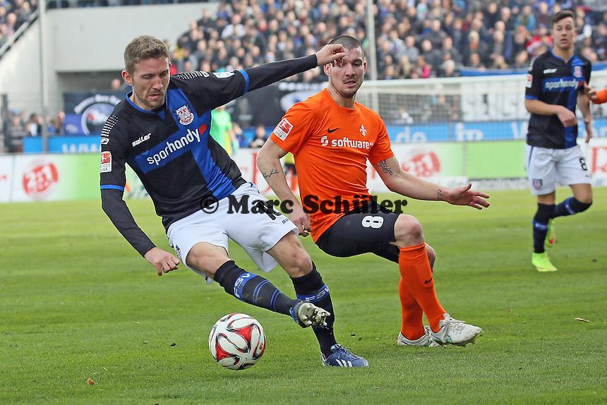 Alexander Huber (FSV) gegen Jerome Gondorf (SV98)- FSV Frankfurt vs. SV Darmstadt 98, Frankfurter Volksbank Stadion