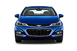 Car photography straight front view of a 2016 Chevrolet Cruze Premier 4 Door Sedan Front View