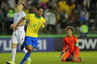 29th October 2019; Bezerrao Stadium, Brasilia, Distrito Federal, Brazil; FIFA U-17 World Cup Brazil 2019, Brazil versus New Zealand; Diego of Brazil celebrates his goal in the 91st minute, 3-0