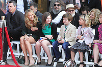 HOLLYWOOD, CA - DECEMBER 03: Christine Taylor, Ella Stiller, Quinlin Stiller attending the Ben Stiller Hand/Footprint Ceremony held at TCL Chinese Theatre on December 3, 2013 in Hollywood, California. (Photo by David Acosta/Celebrity Monitor)