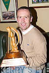 Richard Greer who won the Golfer of the Year at Dooks was presented with his Trophy by Capt John Campbell on Saturday.