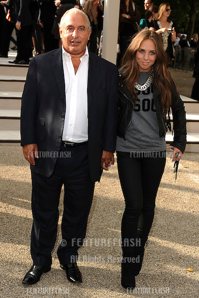 Phillip Green and daughter, Chloe arriving for the Burberry fashion show as part of London Fashion Week at the Chelsea College of Art and Design, London.  22/09/2010  Picture by: Steve Vas / Featureflash