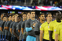 San Jose, CA - Saturday September 16, 2017: San Jose Earthquakes, escort kids, national anthem prior to a Major League Soccer (MLS) match between the San Jose Earthquakes and the Houston Dynamo at Avaya Stadium.