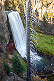 USA, Oregon, Bend, a view of Tumalo Falls located west of Bend, is one of the most popular outdoor destinations