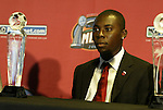 12 November 2004: Freddy Adu received an award for the Nickleodeon Play of the Year. Major League Soccer held their annual pre-MLS Cup press conference at the Home Depot Center in Carson, CA two days before the Kansas City Wizards were scheduled to play DC United in the league's annual championship game..