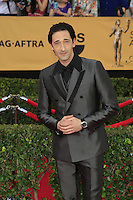 Adrien Brody at the 2015 Screen Actor Guild Awards at the Shrine Auditorium on January 25, 2015 in Los Angeles, CA David Edwards/DailyCeleb.com 818-249-4998