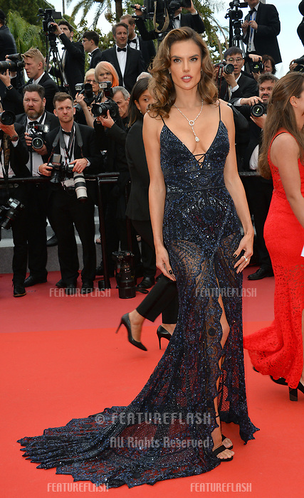 Alessandra Ambrosio at the gala screening for &quot;Solo: A Star Wars Story&quot; at the 71st Festival de Cannes, Cannes, France 15 May 2018<br /> Picture: Paul Smith/Featureflash/SilverHub 0208 004 5359 sales@silverhubmedia.com