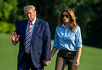 AUG 04 President Trump Returns To The White House After Weekend in Bedminster New Jersey