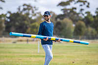 NZL-Madison Crowe and Waitangi Pinterest do jump training with Clarke Johnstone. 2019 AUS-Mitsubishi Motors Australian International 3 Day Event. Victoria Park. Adelaide. South Australia. Thursday 14 November. Copyright Photo: Libby Law Photography