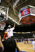 5 March 2007: Cissy Pierce cuts down the net during Stanford's 62-55 win over ASU in the finals of the women's Pac-10 tournament championship at HP Pavilion in San Jose, CA.