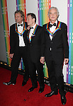 Robert Plant, John Paul Jones and Jimmy Page (Led Zepplin) attending the 35th Kennedy Center Honors at Kennedy Center in Washington, D.C. on December 2, 2012