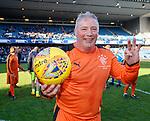 24.3.2018: Rangers legends match:<br /> Hat trick hero Ally McCoist at full time