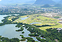Olympic golf course,<br /> APRIL 2016 : An aerial view of the Olympic golf course &quot;Campo Olimpico de Golfe&quot; in the Barra Zone of Rio de Janeiro, Brazil.<br /> (Photo by Hitoshi Mochizuki/AFLO)